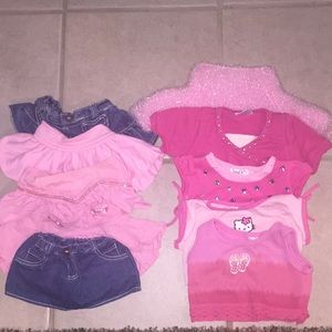 10 PCS of Build A Bear Girls Clothing.  Great !